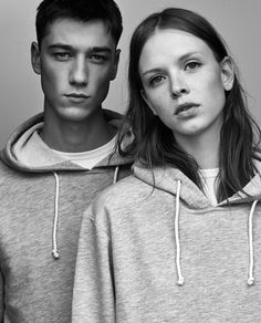 """Retail giant Zara have created an """"ungendered"""" section on their website – featuring unisex basics including t-shirts, tracksuits and jeans modelled by both a male and female model and designed to be worn by any gender. Fast Fashion, Style Fashion, Zara, Poses, Nude T Shirts, Gender Binary, How To Pose, Photoshoot Inspiration, Photoshoot Ideas"""