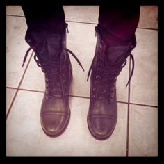 To celibrate my new combat boots! Yay christmas money