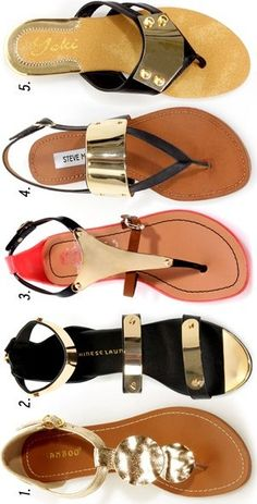 Trend Alert: Metal Plated Sandals  1. Bamboo Wonderful 12,  2. Chinese Laundry Now or Never,  3. Jelly 1,  4. Steve Madden Cufff (SOLD OUT),  5. Yoki Eva 03 ♥✤ | Keep the Glamour | BeStayBeautiful