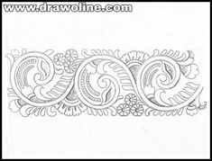 Saree border design drawing for embroidery/tracing transferring design drawing for saree border. Top 5 latest pattern sketch for saree. Hand Embroidery Design Patterns, Saree Embroidery Design, Hand Embroidery Videos, Pattern Sketch, Batik Art, Pencil Design, Saree Border, Border Design, Fabric Painting