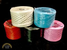 100 yards of paper Raffia ribbon. Pick your color by pandorashack