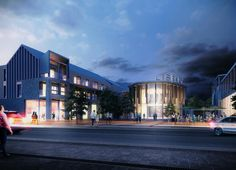 This winning competition scheme for Hadleigh Gateway successfully establishes a new civic heart for the town and will become a focal point for a mix of commercial, arts, and social activities. Social Activities, Cgi, Architects, Mansions, House Styles, Manor Houses, Villas, Building Homes, Mansion