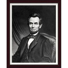 Global Gallery Abraham Lincoln Framed Painting Print Size: