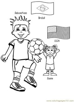 free printable coloring page kids from around the world 005 cartoons