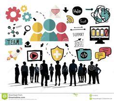 Team Share Support Trust Help Teamwork Togetherness Concept Stock Illustration - Image: 51218915