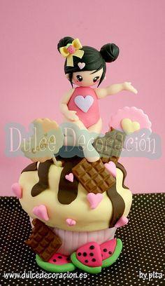 Tarta concurso Chic Kawaii by Dulce decoración (modelado - tartas decoradas), via Flickr