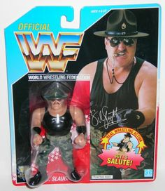 Wwf hasbro Mattel WWF WWE Mattel Sgt SLAUGHTER Head Wrestling figures