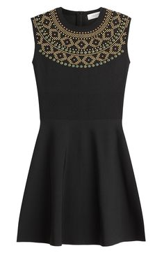 VALENTINO Stud Embellished Dress. #valentino #cloth #cocktail & party