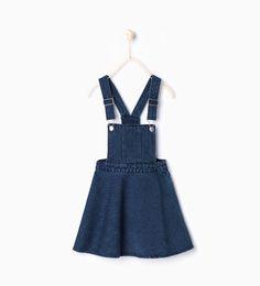 Image 2 of Denim pinafore dress from Zara