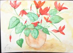 For Mother's Day - send Your Mom an Original Watercolor Mini Painting Blank Greeting by joyceweaver, $6.50