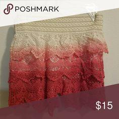 crochet Shorts pink cute and layered Shorts