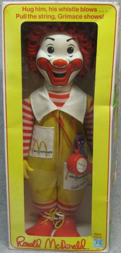 HASBRO: 1978 Ronald McDonald Clown Doll. I had this & then gave to my son to play with. It's still in great shape !
