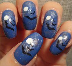 Bats Nails from Little Miss Nailpolish
