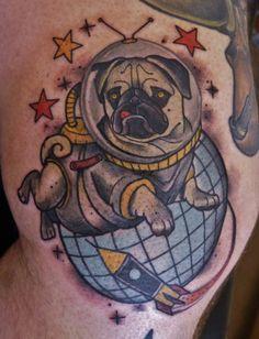 Cool Pug Tattoo!!