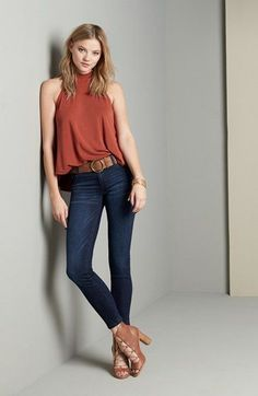 Lush Tank & STS Blue Jeans Outfit and Accessories available at #Nordstrom