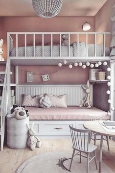 132 cute and girly bedroom decorating tips for girl 55 Small Room Bedroom, Baby Bedroom, Trendy Bedroom, Girls Bedroom, Child's Room, Garden Bedroom, Bed Rooms, Girl Rooms, Room Art