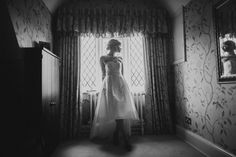 A bridal portrait taken of Emma taken at Rushton Hall in Northampton | wedding photography | modern wedding images | quirky | rock n roll | reportage