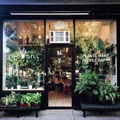 flower shop New York City Plant Design, Delivery and Maintenance. Cafe Interior Design, Cafe Design, Store Design, Design Interiors, Florist Shop Interior, Cafe Interiors, Design Design, New York City, Flower Shop Interiors