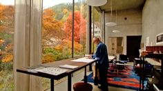 Studio; Peter Zumthor. Ahhhh, that light, that view! SO condusive to productive and relaxing work time.
