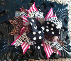 Boutique style hair bow. Layered bow, stacked bow. $8.00, via Etsy.