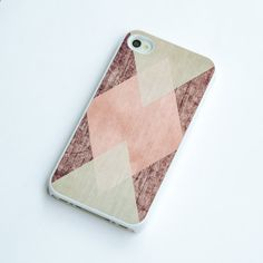 geometric square on wood iphone 4s case wood iphone 4 by IdeaCase, $16.00