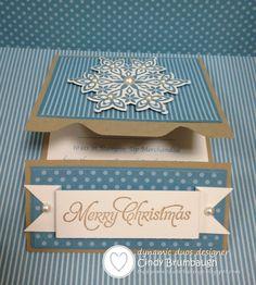 SU Festive Flurry Gift Card inside
