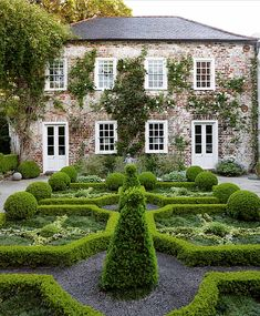 Cindy & Ben Lenhardt's historic Charleston house and garden below with elegant boxwood parterres.