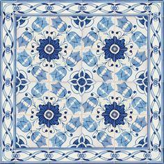 Portuguese Ceramic Tile | 2801 Portuguese Wall Floor Ceramic Tile Azulejo XVII Century blue ...
