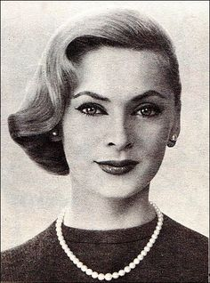 The 1950s-1957 hairstyling