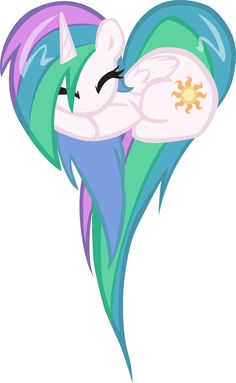 my little pony - heart | FANMADE Celestia heart pony