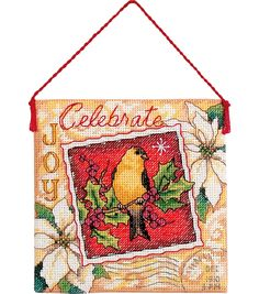 Gold Collection Joy Ornament Counted Cross Stitch Kit