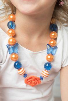 New to LaBellaRoseBoutique on Etsy: Blue Orange necklace bubblegum chunky necklace little girl necklace chunky baby necklace bubble gum 16 inch necklace baby necklace jewelry (9.95 USD)