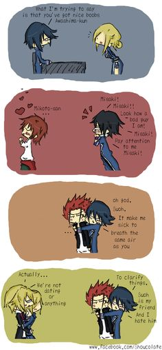 K by shoucolate on DeviantArt   this pretty much sums up the relationship between HOMRA and SCEPTER 4