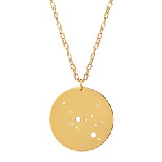 GOLD ASTROLOGY NECKLACE | gold horoscope, zodiac jewelry | UncommonGoods