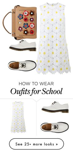 Demeters daughter: School by isabel-ortiz on Polyvore featuring DolceGabbana, Dr. Martens and Fendi
