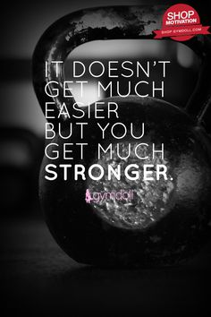 It doesn't get any easier, but you get stronger than you have ever been. Don't give up on your journey. You won't regret it.