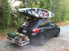 Let's take it all with us, Crosstrek camping :-)