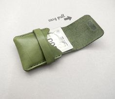 Spring Promotion EASY PULL Hand Stitched by CaramelLeatherCrafts