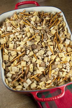 My Aunts' Favorite Chex Party Mix | Wishes and Dishes