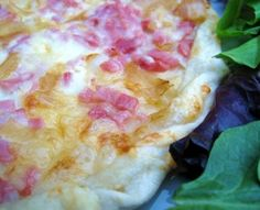 Carmelized Onion, Ham and Gruyere Cheese Pizza