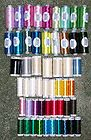 Lot of 53 Spools of Machine Embroidery Thread by Beta & Mettler - Most New - &amp, Beta, Embroidery, machine., Mettler, most, Spools, thread