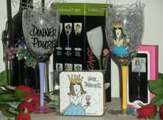 Funny Wine Princess Double Glass Gift Set. $54.00 Free Shipping while supplies last. Free US ground shipping ends Sept 30th, 2013 (http://www.inspirationalgiftstore.com/wine-princess-gift-set-double-glass-selection/)