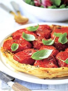 Tarte tatinmediterraneaai pomodori