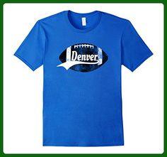 Mens Denver Football T-Shirt Faded Retro Colorado Sports Apparel Large Royal Blue - Sports shirts (*Amazon Partner-Link)