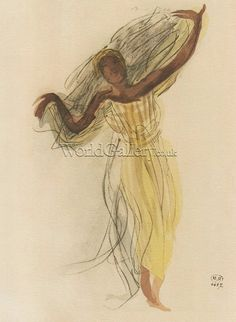 Cambodian Dancer by Auguste Rodin Art Print - WorldGallery.co.uk
