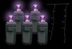 Shop 5MM LED Halloween Icicle Lights in Purple