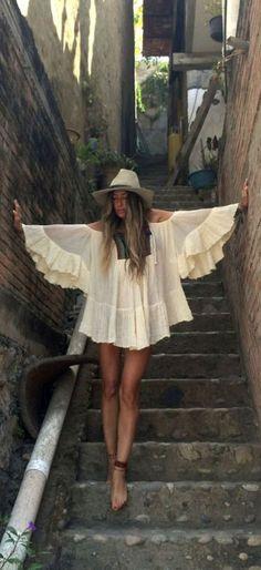 Stylish bohemian boho chic outfits style ideas 41 #estilochic