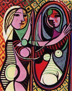 CI SI METTE TROPPO TEMPO PER DIVENTARE GIOVANI (P. Picasso) - donna allo specchio -