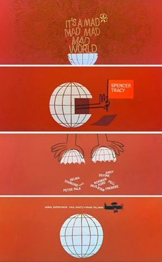 Saul Bass / It's a Mad Mad Mad World. Love the movie and love the opening titles!