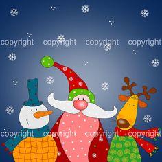 Christmas greeting card digital instant download by ekalogo